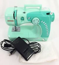 Janome HELLO KITTY Sewing Machine Free Arm 3/4 Size w/ FOOT PEDAL Teal 11706