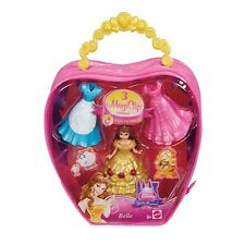 Disney Princess MagiClip BELLE Fashion Bag With 3 Dress clips -NEW