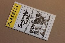Playbill +ticket stub SWEENEY TODD Uris Theatre, Mar 1980, Dorothy Loudon George