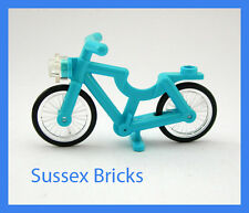 Lego City - Medium Azure Bicycle Bike Riding Cycle Minifigure - Brand New Pieces