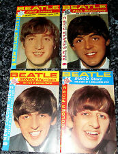 4 BEATLES Booklets Paul McCartney Photos Liverpool Old Vintage Book Magazines UK