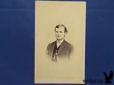 EARLY Parsons CDV Portrait Ypsilanti MI Man Watch Chain Vest Striking Image