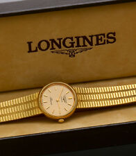 WOMEN'S 9K GOLD LONGINES BRACELET WATCH WITH ORIGINAL BOX
