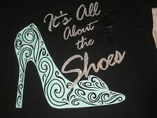 Medium Woman's Princess ~ All About The Shoes ~ Disney Tee Shirt NWT