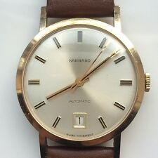 1976 Vintage 9k Gold Garrards Automatic Swiss Watch MINT with Box
