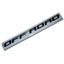 CHROME/BLACK METAL OFF ROAD ENGINE RACE MOTOR SWAP BADGE FOR TRUNK HOOD DOOR