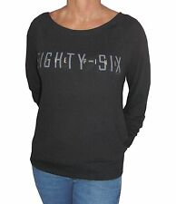 Victoria Secret LOVE PiNK Oversize Boyfriend Sweater Black Small