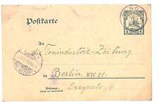 D126 1906 German Colonies TANZANIA *Tanga* CDS Deutsch-Ostafricka YACHT Card