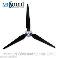 "3 Raptor Generation 5 Blades™ 38"" and Hub for Wind Generator Turbine"
