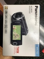 Panasonic HC-W570K HD Camcorder with Built-in Twin Video Camera