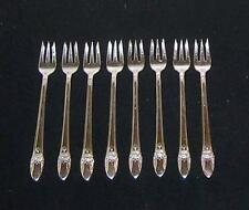 8 ~ 1847 ROGERS BROS. FIRST LOVE  SILVERPLATE COCKTAIL / SEAFOOD FORKS