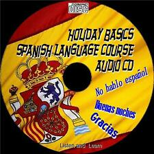 HOLIDAY BASICS SPANISH LANGUAGE LESSONS LISTEN LEARN EDUCATIONAL  AUDIO CD NEW