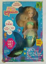 Toymax Rare Talk to me Mermaid Blonde New in Box Batteries are dead HTF
