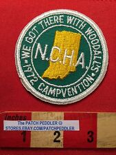 Vtg 1972 NCHA CAMPVENTION Collectible Jacket Patch WOODALL CAMP HIKE Camper 5DC1