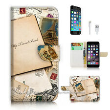 iPhone 7 PLUS (5.5') Flip Wallet Case Cover P2899 Old Travel Book
