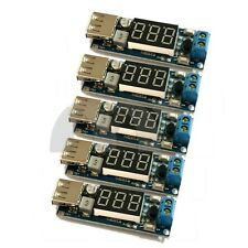 5x Two-wire Voltmeter 5V USB Charger or Power Supply DC-DC BUCK 6.5-40V to 5V 2A