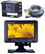"7"" HEADREST LCD MONITOR + REAR VIEW BACKUP CCD CAMERAS AND STAND IN-CAR MONITOR"