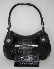 GUESS Lilybelle Bag Hobo Logo Sac a Main Vernis Portefeuille Lot Noir Neuf