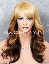 WAVY WIG Heat Safe Ombre COLOR Blonde Brown Auburn mix JSHB 234