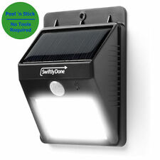 Outdoor LED Solar Powered MOTION GARDEN LIGHT Deck Landscape Security Wall Shed