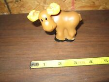 Fisher Price Little People Going Camping Part Toy Picnic Moose Wild Animal Bull