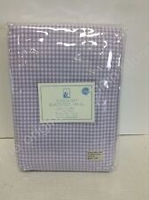 1 Pottery Barn Kids Gingham Blackout Drapes Curtains Panels 44x84 Lavender Pole