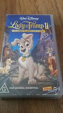 LADY AND THE TRAMP 2 SCAMP'S ADVENTURE - WALT DISNEY  - VHS VIDEO TAPE