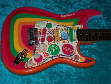 !!!!!!!! Rocky Fender Stratocaster Guitar Strat Squier hand painted vintage des