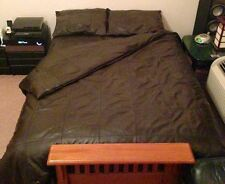 SOFT SHEEP NAPPA REAL LEATHER KING SIZE BED SHEET WITH TWO PILLOWS