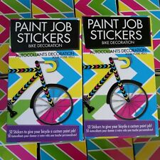 Paint Job Stickers Bike Decoration, 50 Colored  Stickers Lot of( 2) 100 total