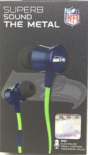 NFL Seattle Seahawks Pro Metal Earbuds W/ Built In Microphone by ihip