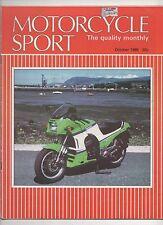 MOTORCYCLE SPORT OCTOBER 1985 - BMW K100 RACER TEST