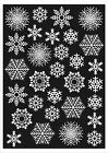 60 Snowflake Window Clings Christmas & Winter Stickers - Reusable Decorations