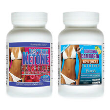 #1 Fat Weight Loss RASPBERRY KETONE EXTREME + Garcinia Cambogia EXTREME PURE HCA