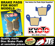REAR DISC BRAKE PADS TO SUIT HONDA HM CRM125 R Supermoto (07) PATTERN