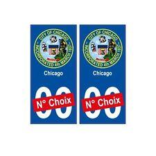 Chicago ville sticker numéro au choix autocollant blason USA city droits
