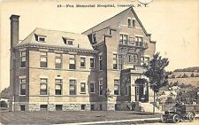Oneonta NY Fox Memorial Hospital Old Car in 1909 RPPC Postcard