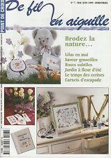 De fil en aiguille N°7 point croix Abc nature fleur Bébé Véronique Enginger