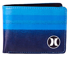 "BRAND NEW + TAG HURLEY MENS / BOYS TRI-FOLD WALLET ""BLOCK PARTY"" PHOTO BLUE"