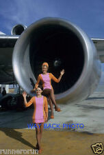 "5"" by 7"" PHOTO REPRINT - PSA AIRLINES STEWARDESSES - ENGINE POSE, SEXY"