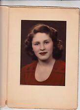 Beautiful Vintage Photo/Woman Fashion Handtinted Color Beauty/Makeup Lipstick