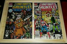 The Infinity Gauntlet #1 & #2!! 2 COMIC LOT!! BOTH 9.4 1ST OWNER NEVER READ!!