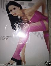 Wolford Adventure Open Toe Stay-ups Hold-ups Thigh Highs Black XSmall 21605 Rare