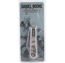 Daniel Boone Barlow 2 Blade Novelty Pocket Knife Stamped Bolster
