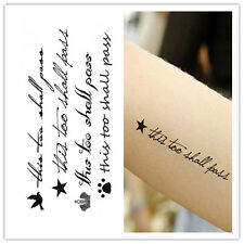 Removable Stickers Waterproof English Words #always# Temporary Tattoos Body ArtM