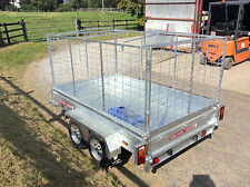 9x5 TWIN AXLE UNBRAKED,CAGED,BOX TRAILER, 7X4, 6X4 ,9X4 ,8X4