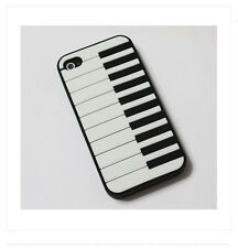 New Piano Soft Rubber Silicone Skin Back Cover Case For iPhone 4 4G 4S