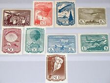RUSSIA SOWJETUNION 1938 637-45 678-86 Soviet Airpost Flugpost Aircrafts MLH