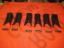 6 - PENGO TWIN TIGER BUCKET TEETH & PIN SET JOHN DEERE CASE FORD BACKHOE 230