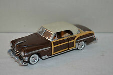 Franklin Mint B11KE20 1950 Chrysler Town and Country brown 1:43 Mint in box